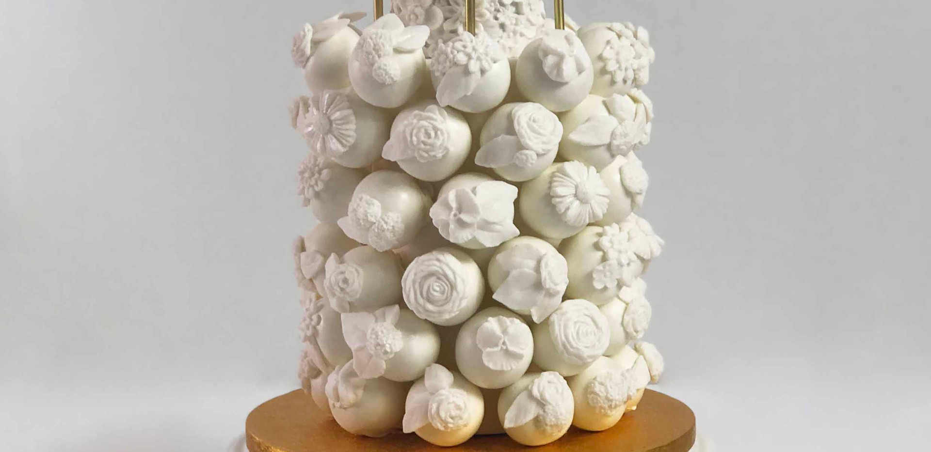 White Floral Celebration Cake Pop Cake I