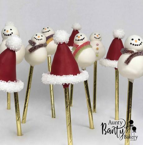Snowman & Santa Hats Pops Image 1 with L