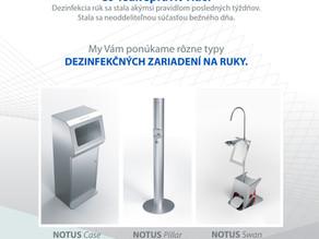 Štýlové dezinfekčné zariadenia na ruky