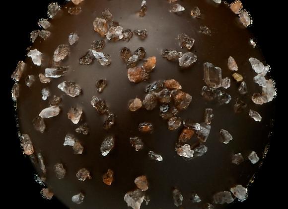 Sea Salt Caramel Dark Chocolate Truffles