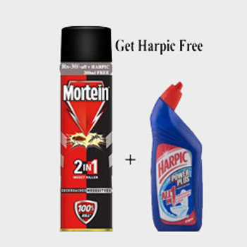Mortein 2 In 1 Insect Killer + Harpic