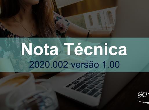 Publicada Nota Técnica 2020.002 – IPI e Tabela de Enquadramento