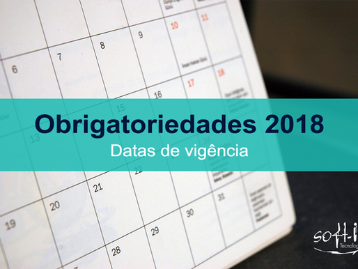Obrigatoriedades fiscais previstas para 2018