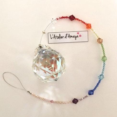 Boule de cristal en pierres de Swarovski