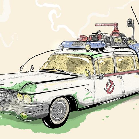 Ghost Busters Cornhole artwork