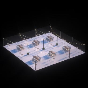 Isometric seating arrangment
