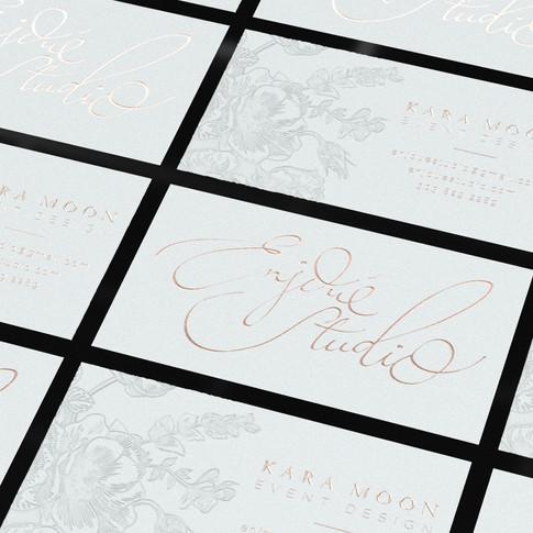 Letterpress & Foil cards (Blind Deboss & Copper)