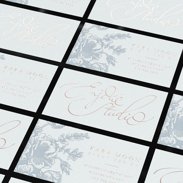 Letterpress & Foil cards (French blue & Copper)