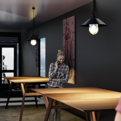 Conceptual Coffee Shop Render