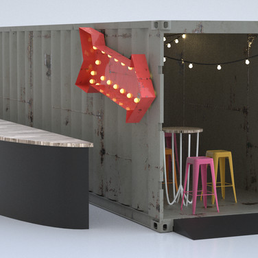 Cargo Container Seating.