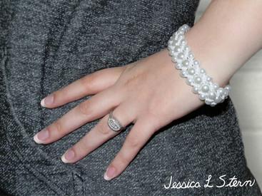 Faux Pearl Woven Bracelet