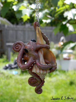 Octopus With Conch Shell