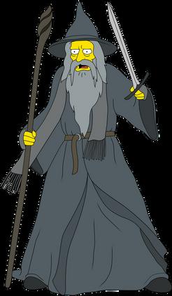 Gandalf the Grey - Simpson Style