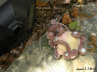 Octopus with Scallop Shell
