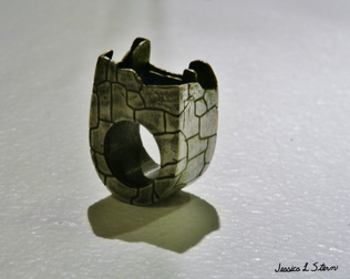 Inca Walls Hollow Ring