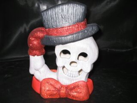 Skeleton Head with Top Hat