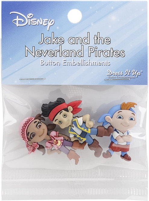 Jake and the Neverland Pirates Buttons - Disney