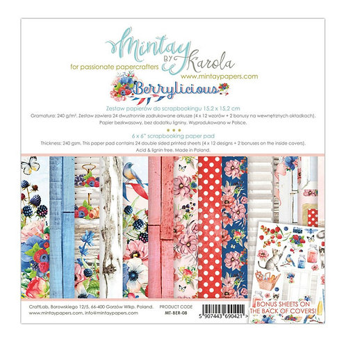 """Mintay Papers - Berrylicious 6"""" x 6"""" Paper Pad"""