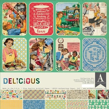 """Authentique - """"Delicious""""  12""""x12"""" Paper Collection"""