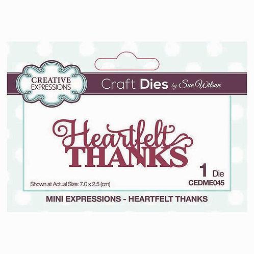 Creative Expressions Craft Dies - Heartfelt Thanks