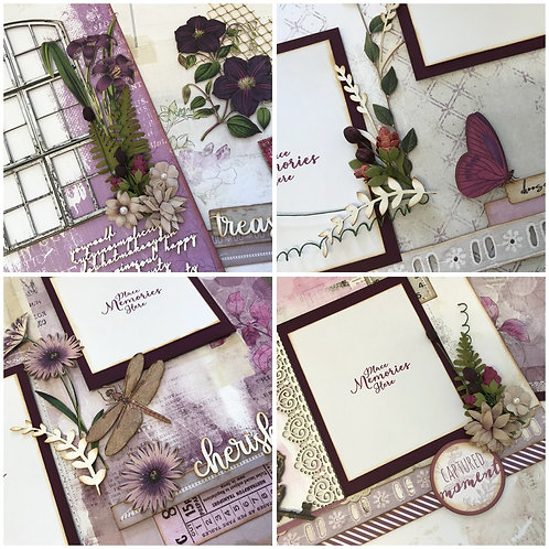 """Lilac Vintage Artistry"" Deluxe Layout Kit"