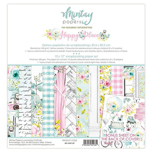 """Mintay Papers - Happy Place 12""""x12"""" Paper Collection"""