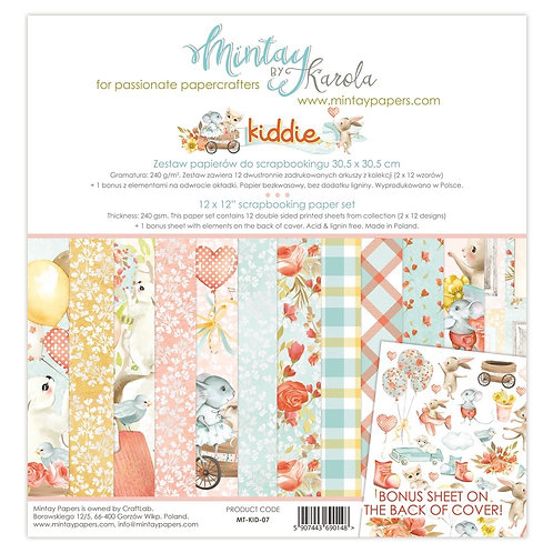 """Mintay Papers - Kiddie 12""""x12"""" Paper Collection"""