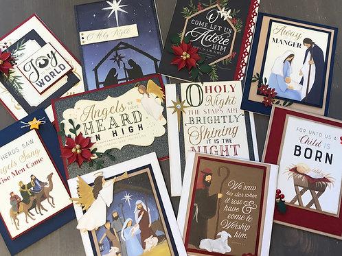 """Silent Night"" Card Kit -  Set of 10 Cards"