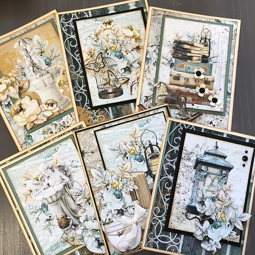 """""""Old Manor"""" Card Kit -  Set of 6 Cards"""