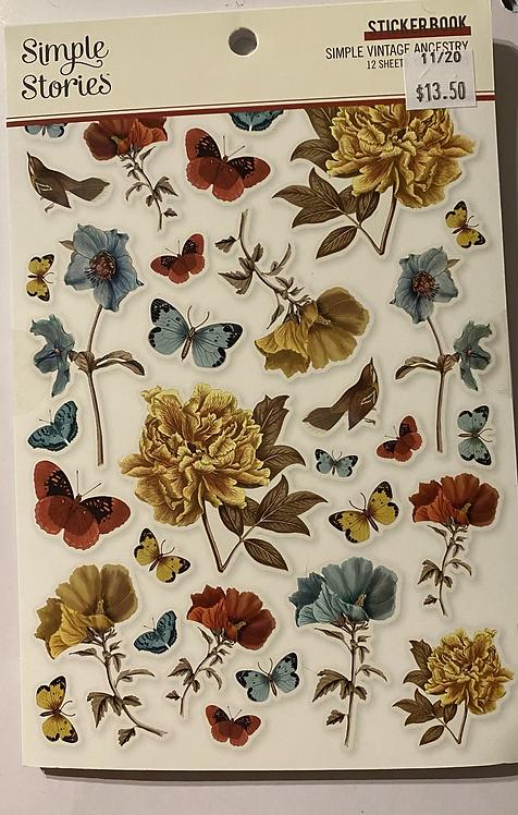 Simple Stories - Simple Vintage Ancestry - Sticker Book