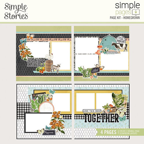 Simple Stories - Homegrown - Simple Pages Page Kit