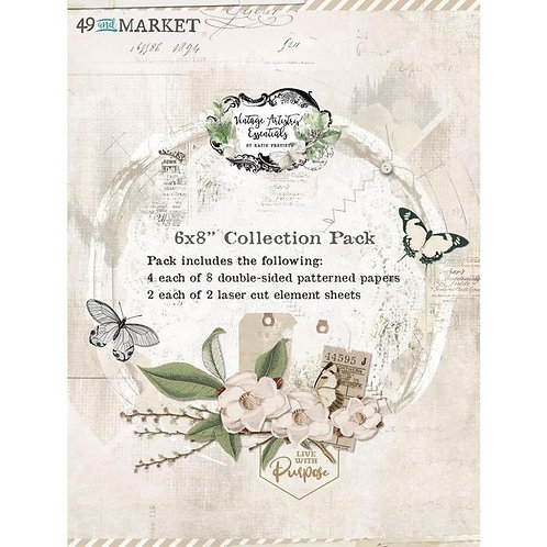 49 and Market - Vintage Artistry Essentials - 6x8 collection pack