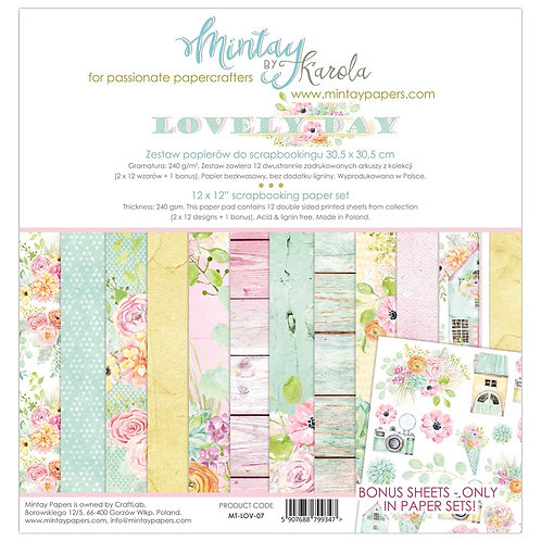 "Mintay Papers - Lovely Day 12""x12"" Paper Collection"
