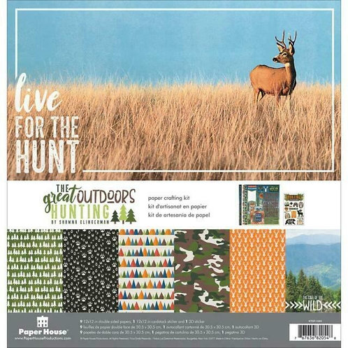 Paper House - The great Ourdoors Hunting 12x12 kit