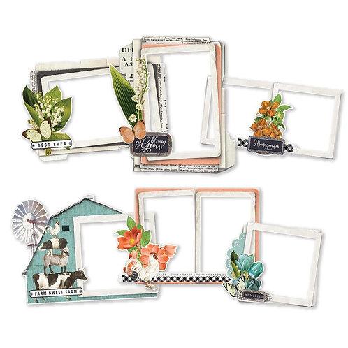 Simple Stories - Simple Vintage Farmhouse Garden - chipboard Frames