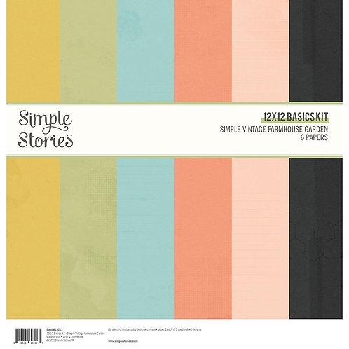Simple Stories - Simple Vintage Farmhouse Garden - 12x12 Basic Kit