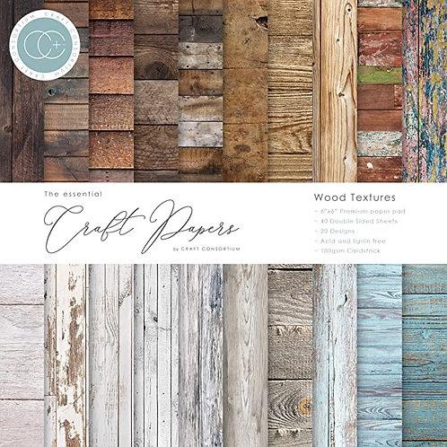Craft Consortium - Wood Textures 12x12 Paper Pad