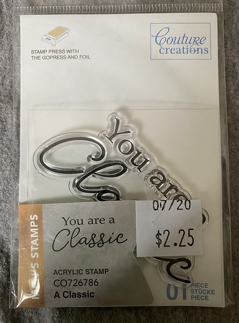 Couture Creations Stamps - A Classic