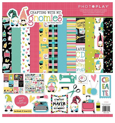 Photoplay -Crafting With My Gnomies 12x12 Collection Pack