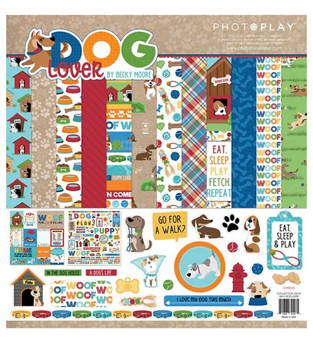 "Photoplay - I Love Dogs 12""x12"" Collection Kit"