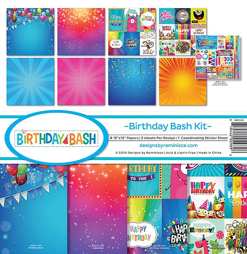 """Reminisce - """"Birthday Bash"""" 12""""x12"""" Paper Collection"""