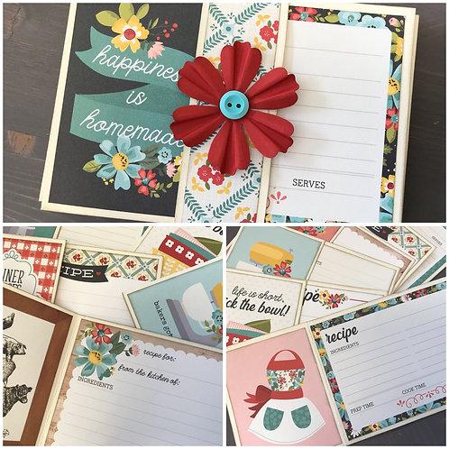 """Apron Strings"" Recipe Card Kit -  Set of 6 Cards"
