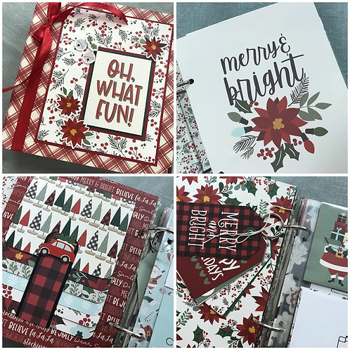 """Jingle All The Way"" Simple Stories Binder Album Kit"