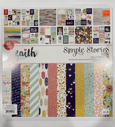 Simple Stories - Faith 12x12 Paper Pad