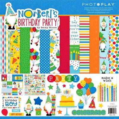 "Photoplay - Norbert's Birthday 12""x12"" Collection Pack"