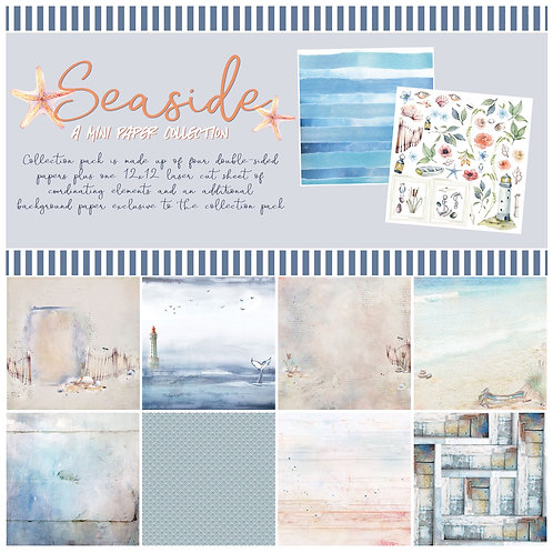 """49 and Market - """"Seaside"""" 12""""x12"""" Paper Collection"""