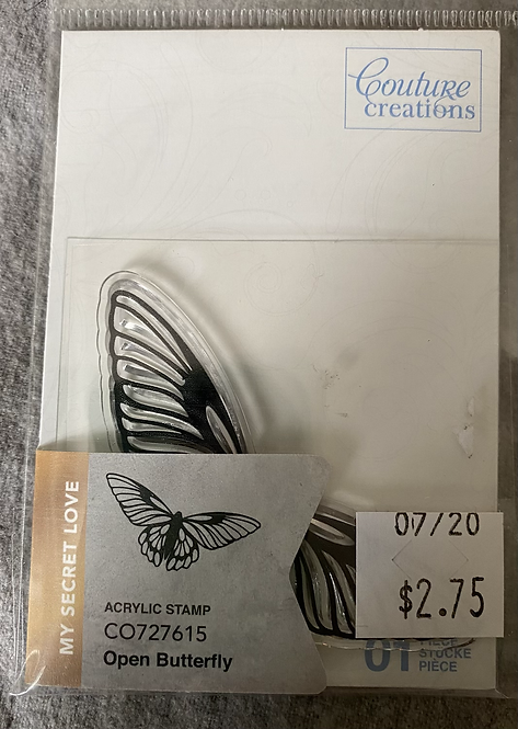 Couture Creations Stamps - Open Butterfly