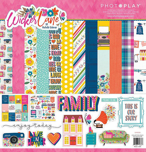 Photoplay - Wicker Lane 12x12 collection Kit