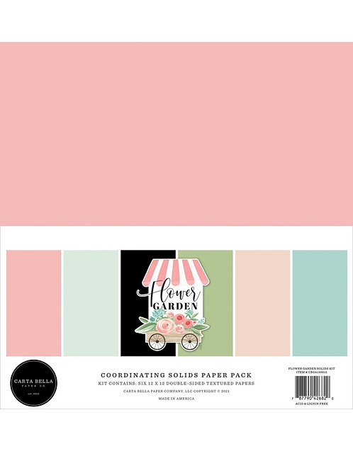 Carta Bella - Flower Garden Coordinating Solids Pack