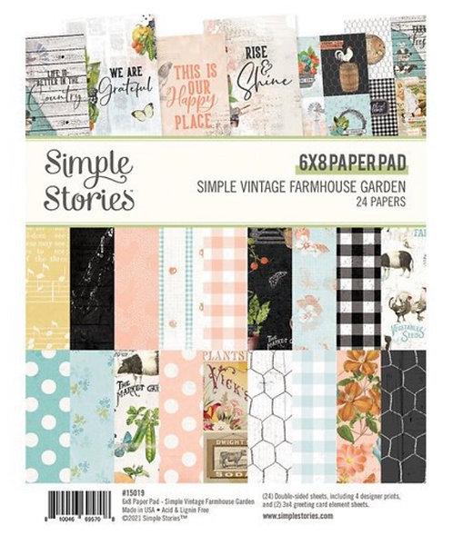 Simple Stories - Simple Vintage Farmhouse Garden - 6x8 paper pad